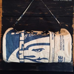 Duffle Bag Recycled Cementbag Blue