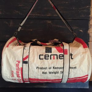 Duffle Bag Recycled Cementbag Red