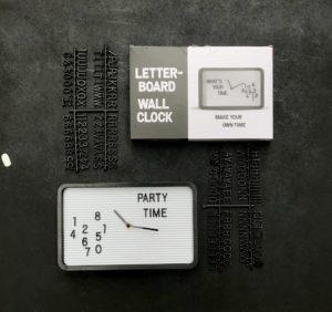 Letterboard Clock