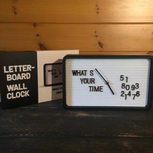 Letterboard Wall Clock