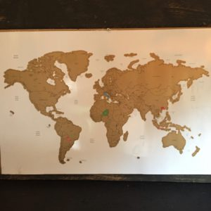 Scratch World Map 60x40 cm