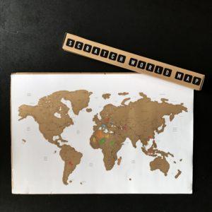 Scratch World Map 60x40 cm