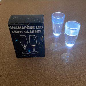 Champagne Led Glazen